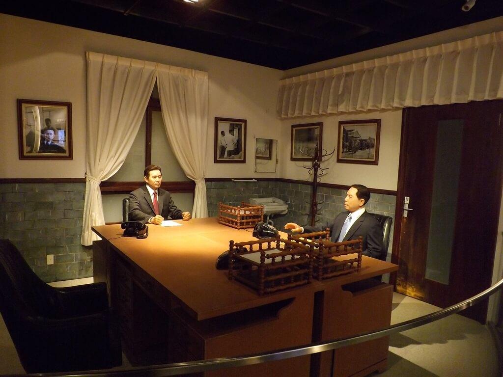 台塑企業文物館的圖片:相當逼真的辦公室對話場景