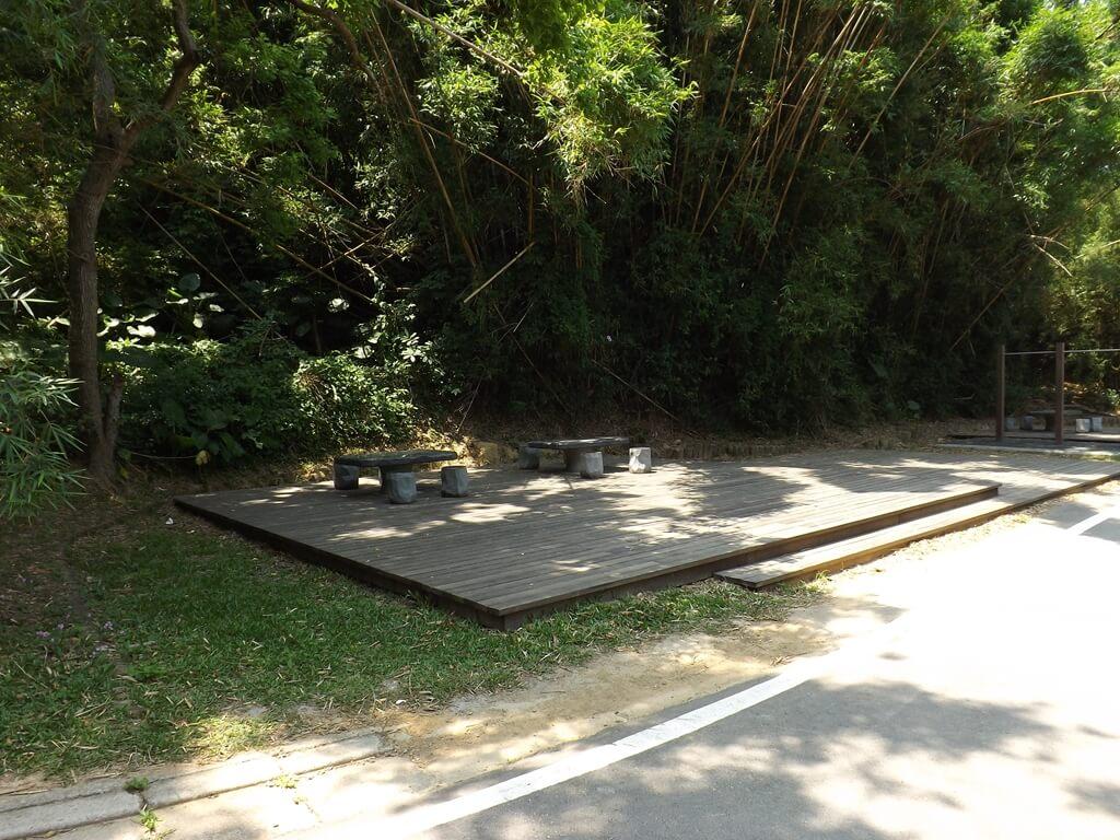 新竹青青草原的圖片:竹林下的休息區