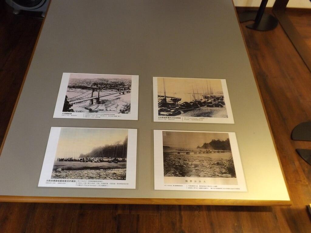 大溪木藝生態博物館的圖片:大溪鐵線橋、裝運茶葉的大稻埕碼頭、大嵙崁渡頭 ... 等舊照