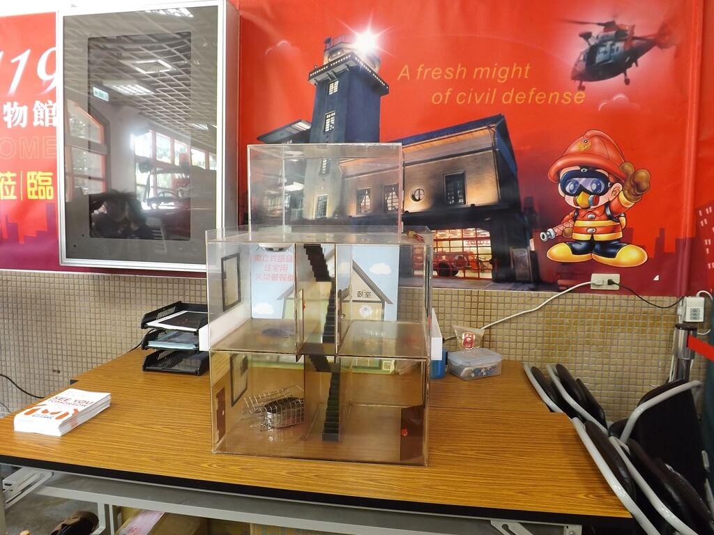 新竹市消防博物館的圖片:火災建築模型