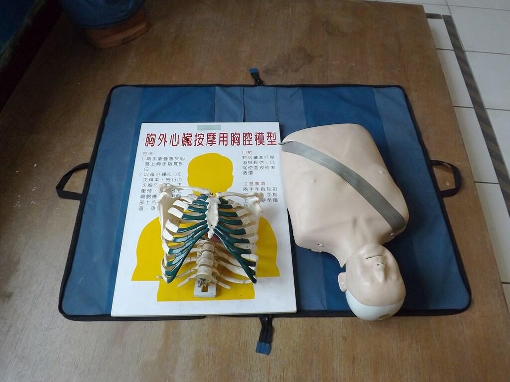 新竹市消防博物館的圖片:胸外心臟按摩用胸腔模型