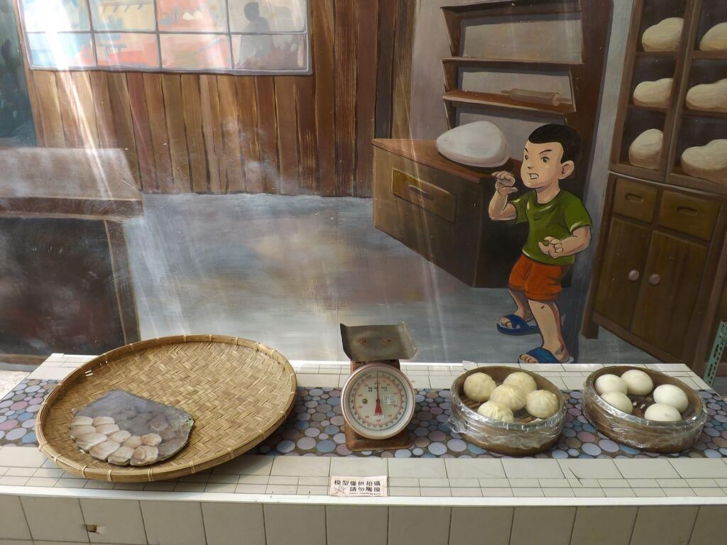 新竹市眷村博物館的圖片:包子、饅頭與秤子