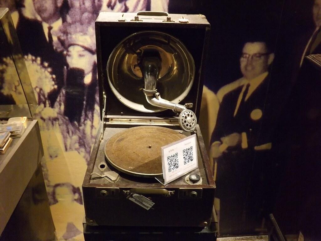 新竹市眷村博物館的圖片:留聲機展示品