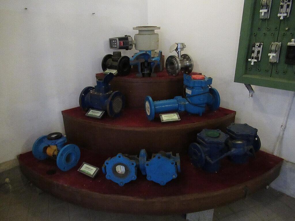 臺北自來水園區(自來水博物館)的圖片:各種水管轉接頭
