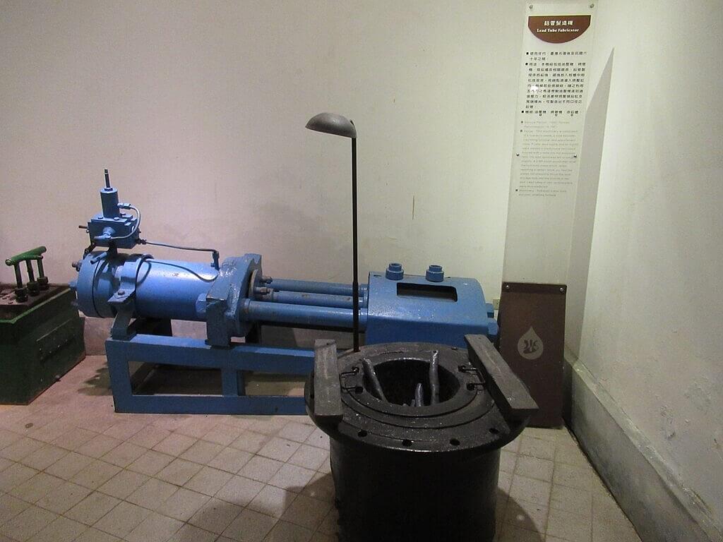 臺北自來水園區(自來水博物館)的圖片:鉛管製造機